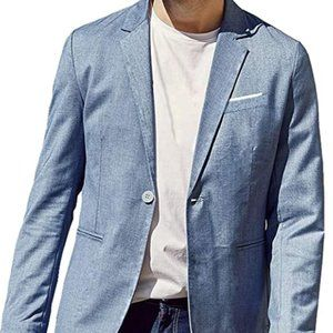 Suit Jacket for Men, One Button Slim Fit Casual